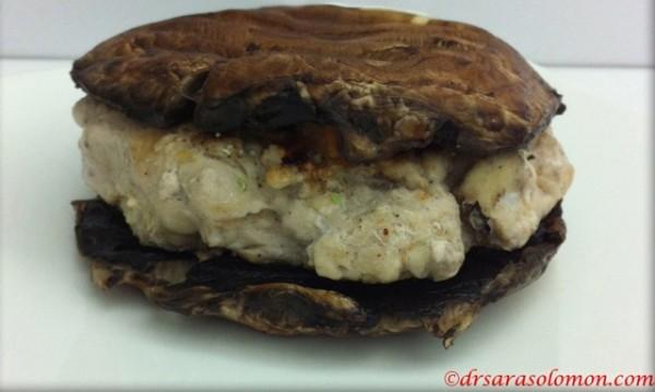 mushroom onion burger - gluten-free/dairy-free